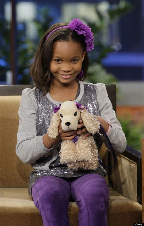 Quvenzhané Wallis On Jay Leno: Actress Sparkles In Sequins