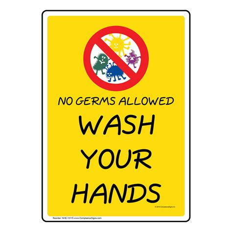 Hand Washing Signs - Child Friendly