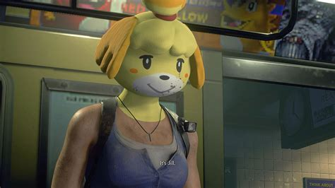 Animal Crossing's Isabelle takes on the Nemesis with this