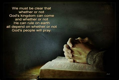 Praying and Fighting for the Coming of the Kingdom of God