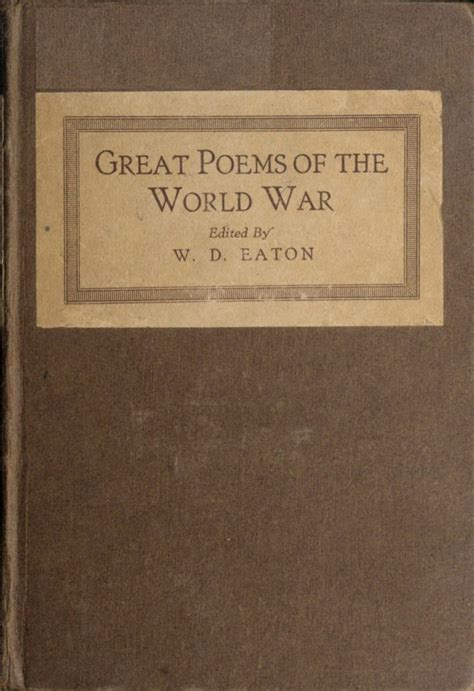 The Project Gutenberg eBook of Great Poems of The World War