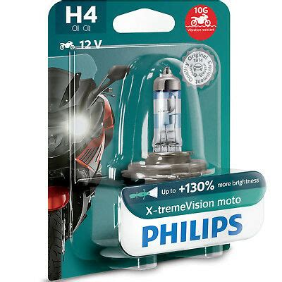 Philips Xtreme Vision Moto H4 130% More Light Motorcycle