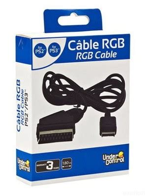Kabel Real RGB Scart do Playstation PS2 PS3 ! NOWY