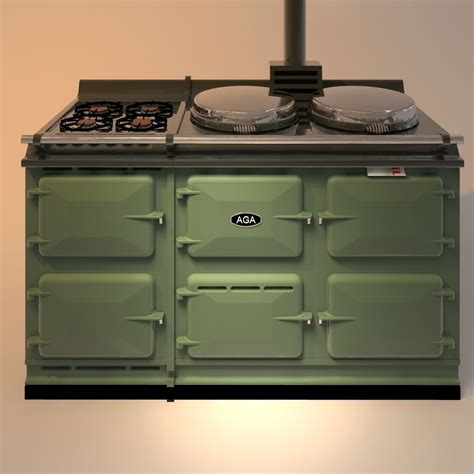 AGA Stove with gas 3D Model OBJ 3DS 3DM DWG - CGTrader