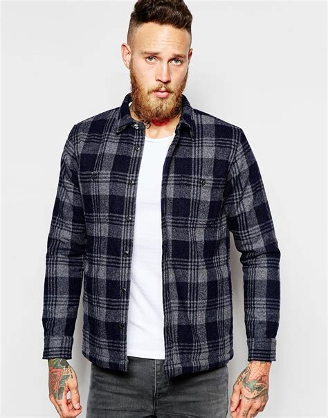 Lyst - Edwin Overshirt Jacket Labour Heavy Flannel Check