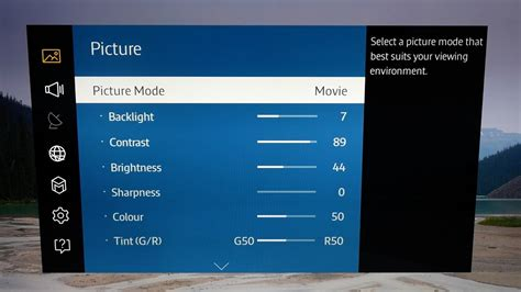 Picture Settings for Samsung UE40JU6400 4K TV - YouTube