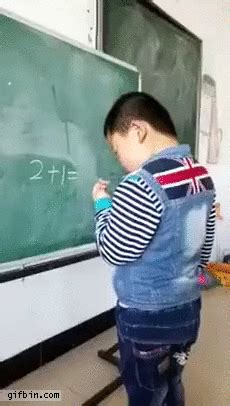 Chinese Kid Doing Math (2+1=OK) | Best Funny Gifs Updated