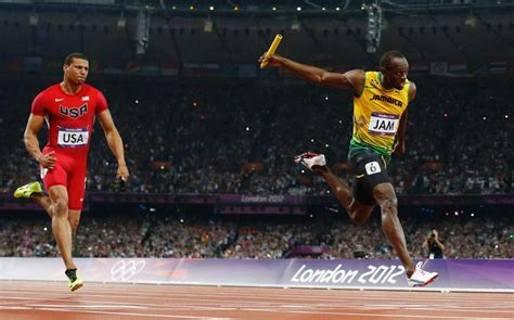 Usain Bolt and the Jamaican relay team: the quickest 4x100